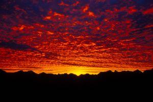 Sonnenaugang im Allgaeu
